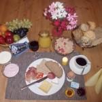 Frühstück in der Pension Blume